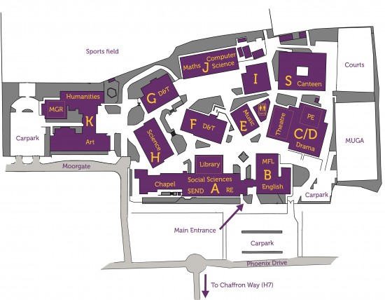 Site map of St Paul's Catholic School